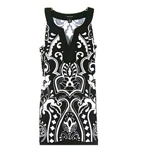 Black White Sleeveless Dress Size XS